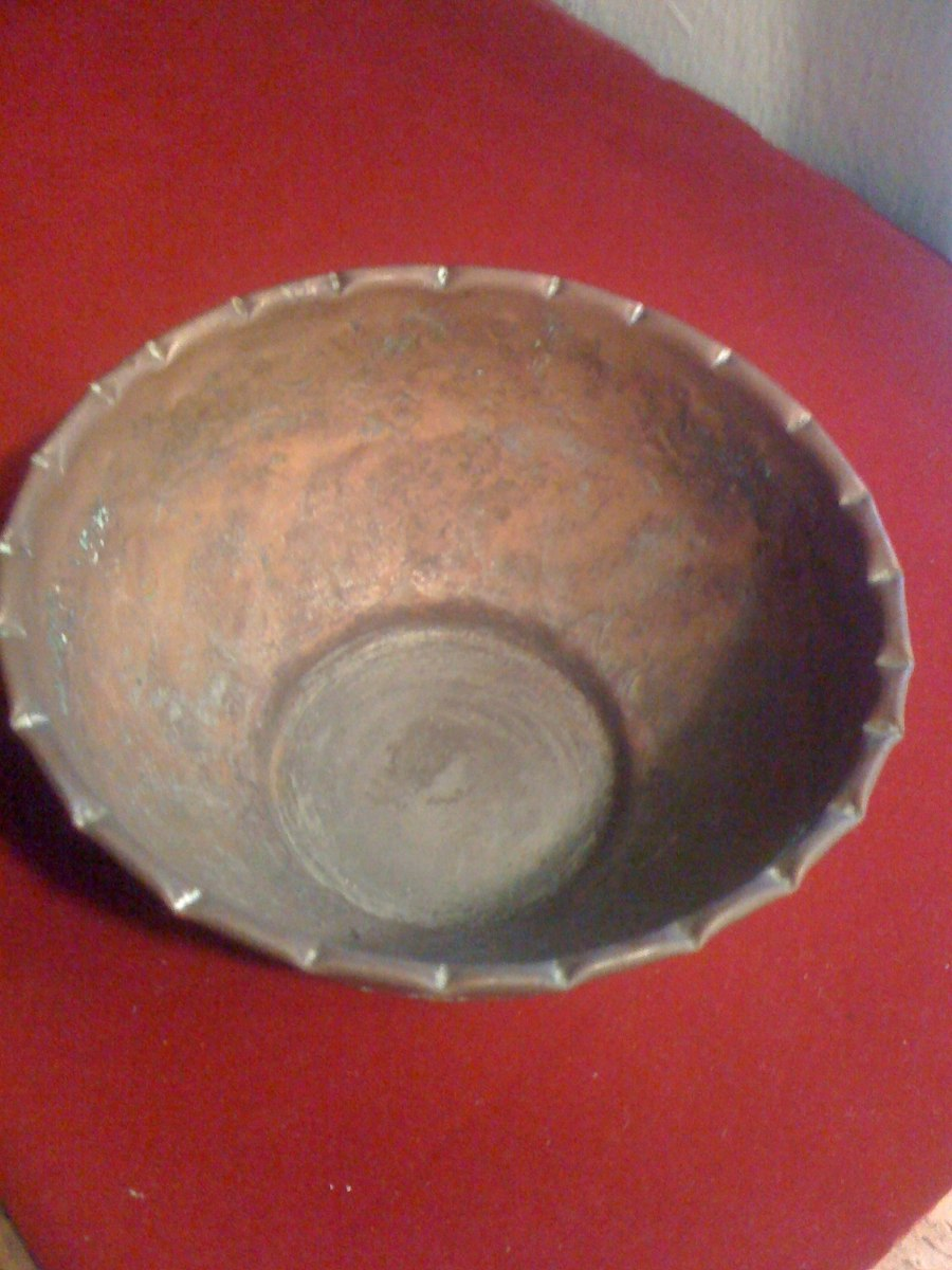 Recipiente de cobre egipcio en mercado libre for Articulos de decoracion de cobre
