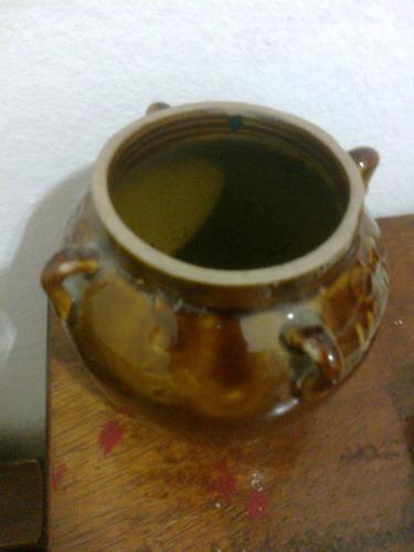 recipiente en cerámica gres de origen oriental