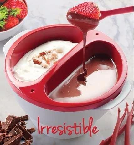 recipiente fondaemicrodeli derretir chocolate, quesos,salsas
