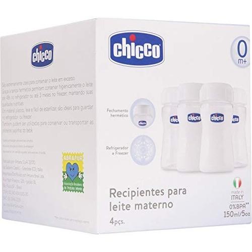recipiente para leite materno (0m+) - 0% bpa (4 pcs) chicco