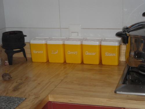 recipientes retros para cocina
