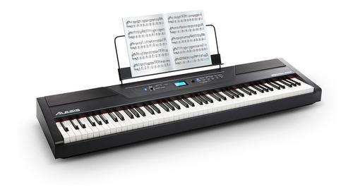 recitalxus / piano digital alesis de 88 teclas semi-pesadas