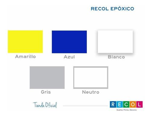 recol epóxico+catalizador/pintura industrial/pisos y paredes