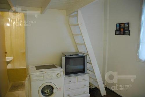 recoleta. moderno loft con entrepiso. alquiler temporario sin garantías.