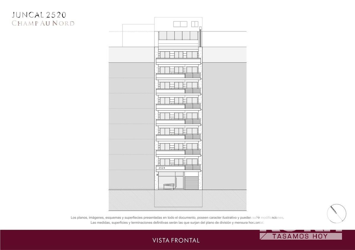 recoleta - semipiso de categoria en venta, 3 ambientes con cochera, en construccion