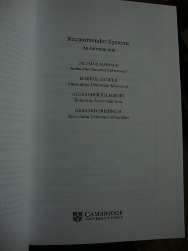 recommender an introduction systems