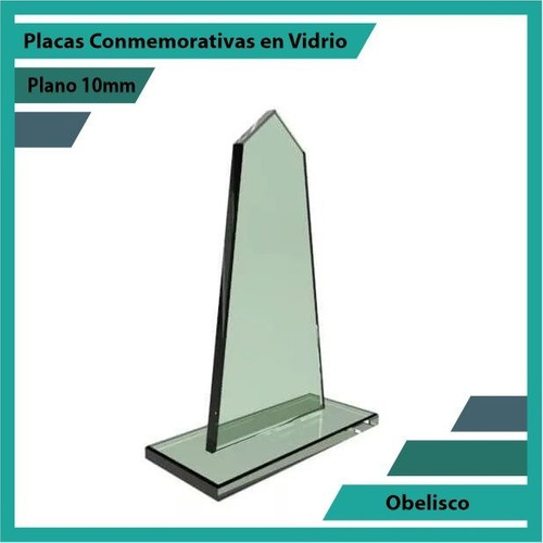 reconocimiento en vidrio obelisco pulido plano 10mm