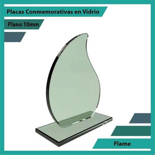 reconocimiento en vidrio referencia flame pulido plano 10mm