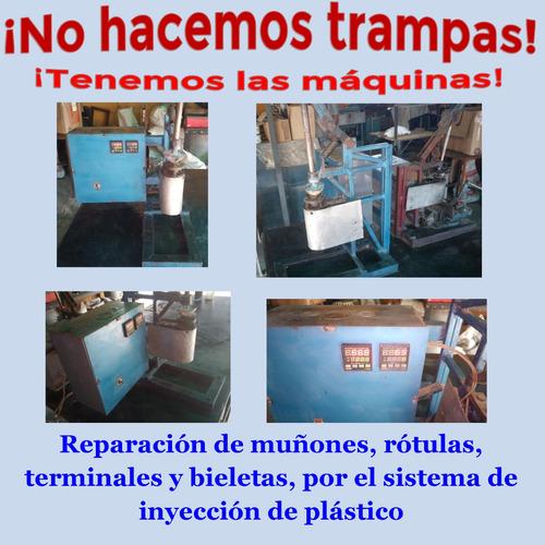 reconstrucción de muñones, terminales, rotulas, en cumana