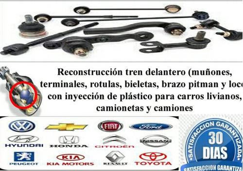 reconstrucción de tripoides, mesetas muñón, terminal triceta