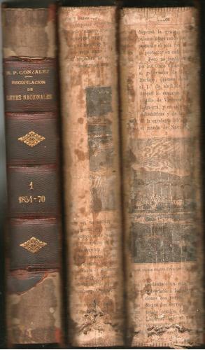 recopilacion de leyes nacionales 1854 1887 max. gonzalez 3 t
