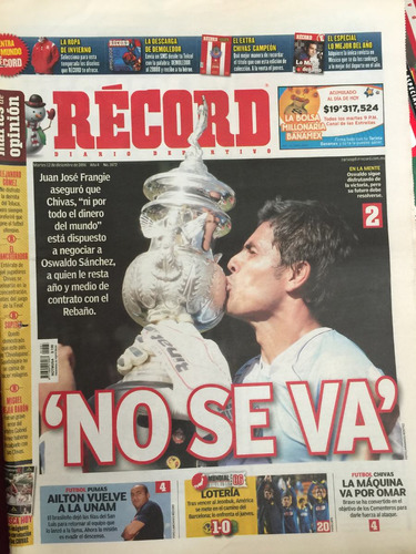 record periodico chivas campeon 2006 original d epoca