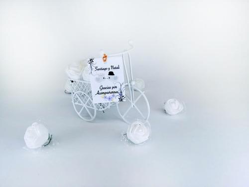 recordatorio bicicleta personalizado flores boda invitacion