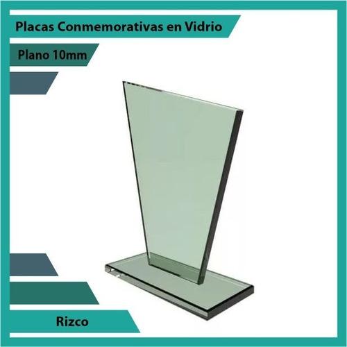 recordatorio en cristal rizco pulido plano 10mm