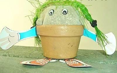 recordatorio eventos primera comunion muñeco cabeza de pasto