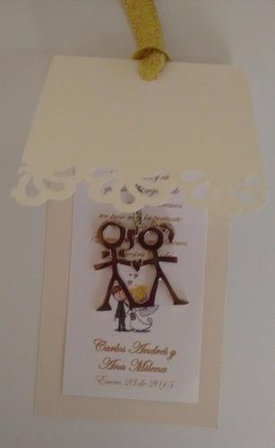 recordatorio invitación llavero novios, tarjeta personalizad
