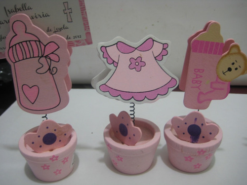recordatorio portarjeta madera baby shower