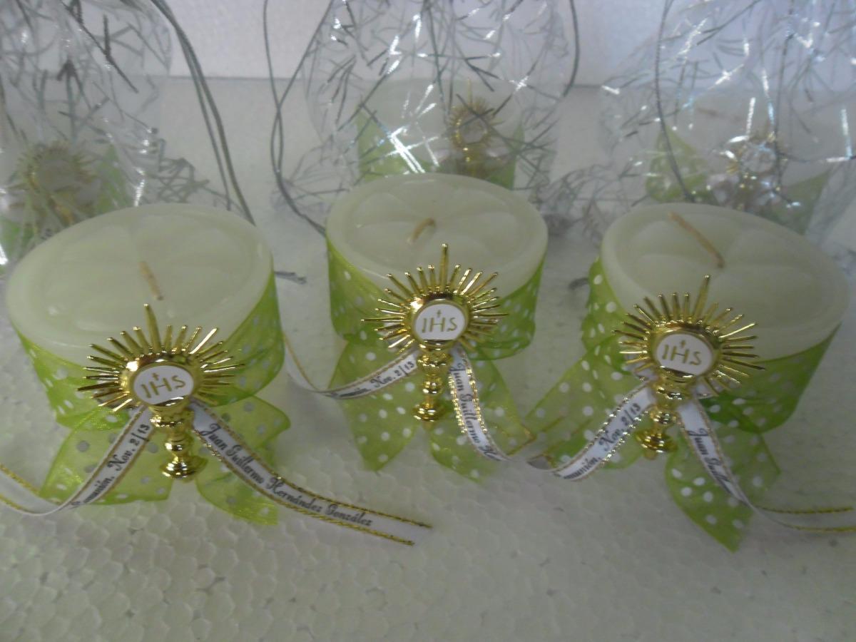 Recordatorio vela decorada bautizo primera comunion bodas - Velas decoradas para bautizo ...