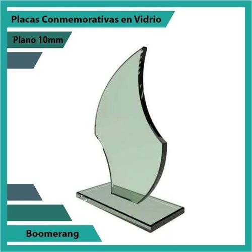 recordatorios en cristal boomerang pulido plano 10mm