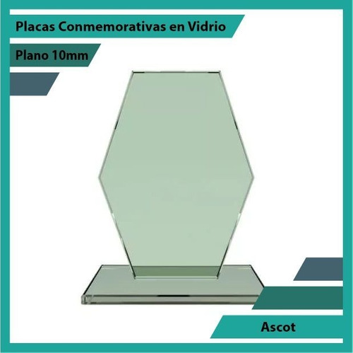 recordatorios en cristal referencia ascot pulido plano 10mm