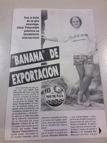 recorte de revista de cesar banana pueyrredon