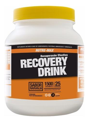 recovery drink x 1500grs nutremax recuperacion aminoacidos
