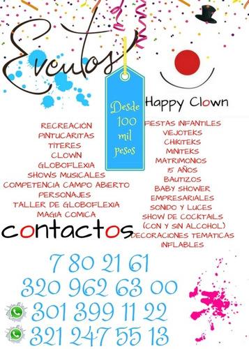 recreación y eventos happy clown