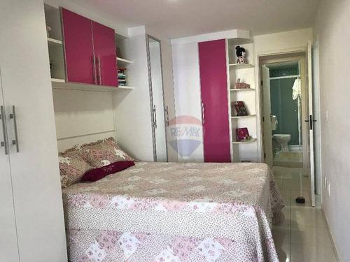 recreio, apartamento 3 quartos frente - ap0544