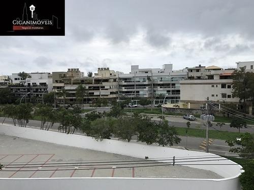 recreio - cobertura - 260m² - 3qts (1suíte) - reformada - 064e