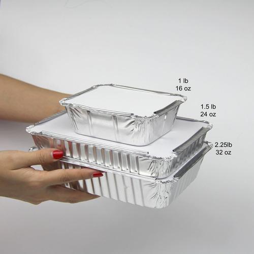 rectangular de 1,5 lb 24 oz 8,75 x 6,25 x 1,5 desechables al