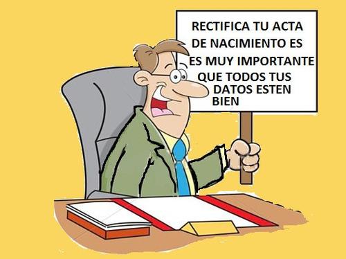 rectificación de actas
