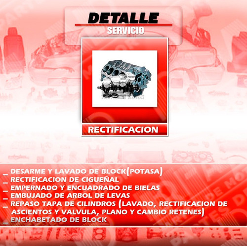 rectificación de  tapas de cilindros -  ciguenales - motores