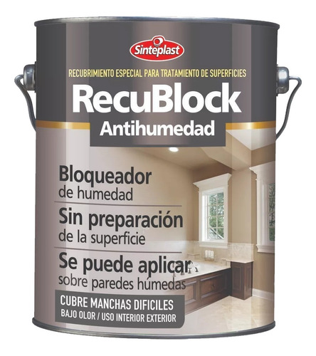 recublock antihumedad proteccion superficie 4lts bco