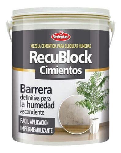 recublock cimientos 12 kg bloqueador de humedad paredes