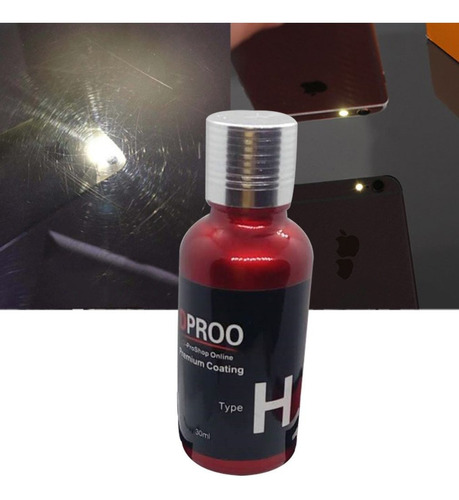 recubrimiento anti-oxidación de cristal superhidrófobo rojo