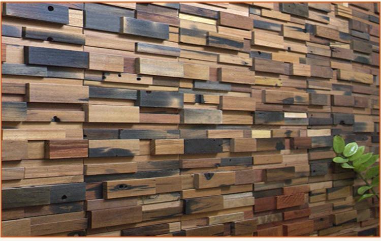 Recubrimiento madera mosaico teca muro dise o fachada en mercado libre - Recubrimientos de fachadas ...