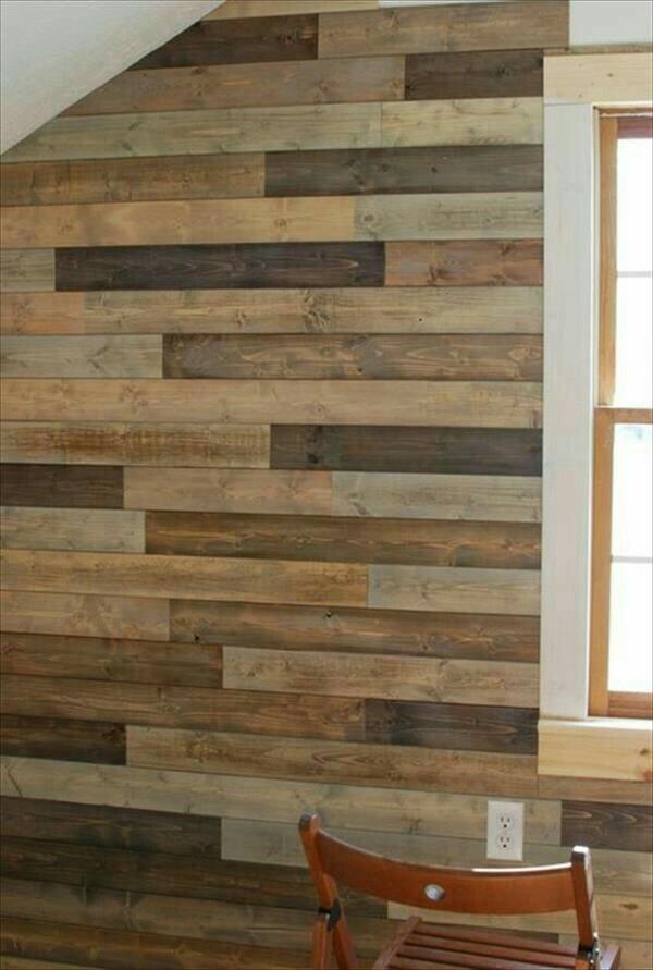 Recubrimiento muro de madera maciza pared pallet palet en mercado libre - Recubrimientos de paredes ...
