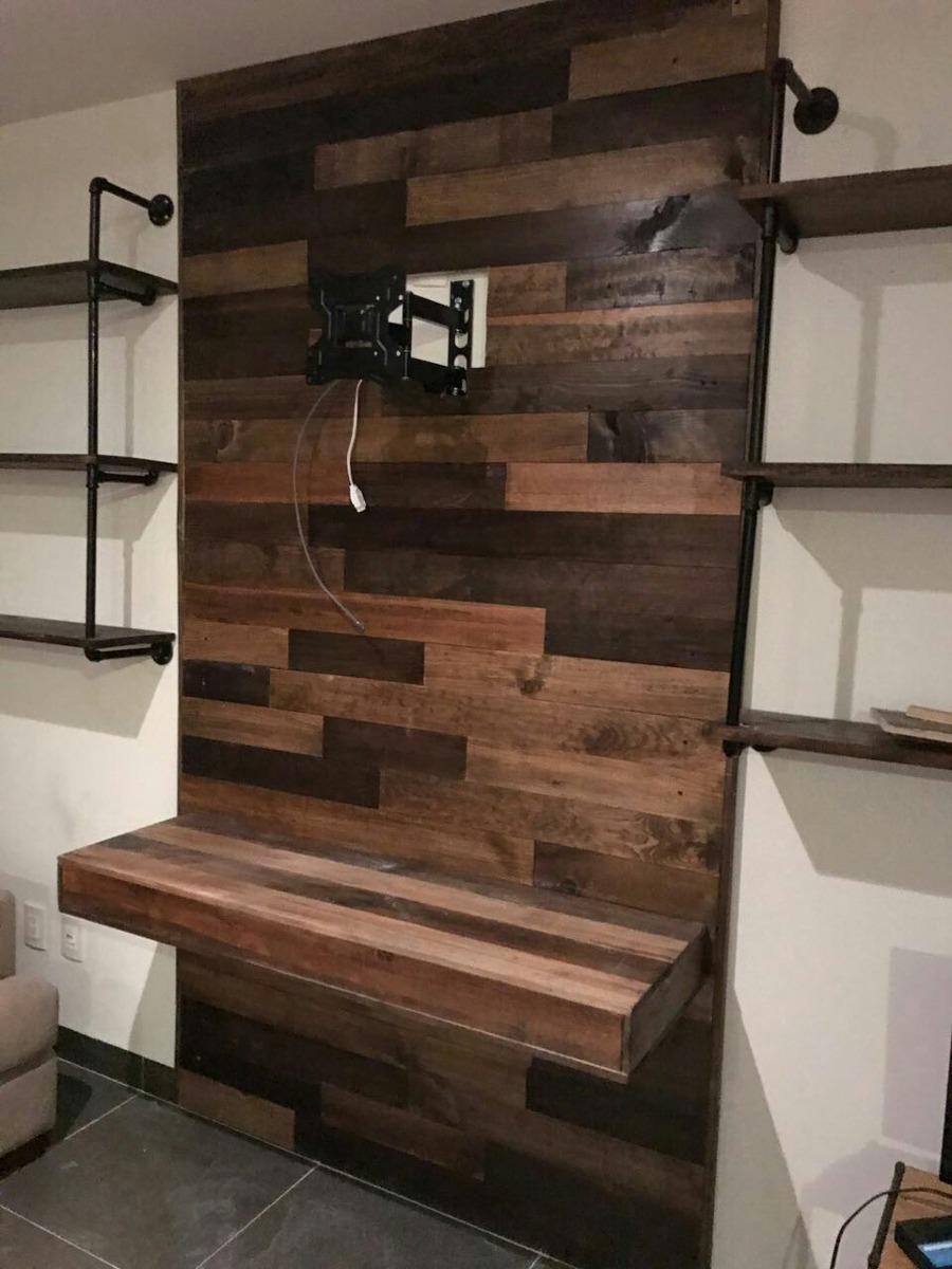 Recubrimiento muro de madera maciza pared pallet palet - Paredes en madera ...