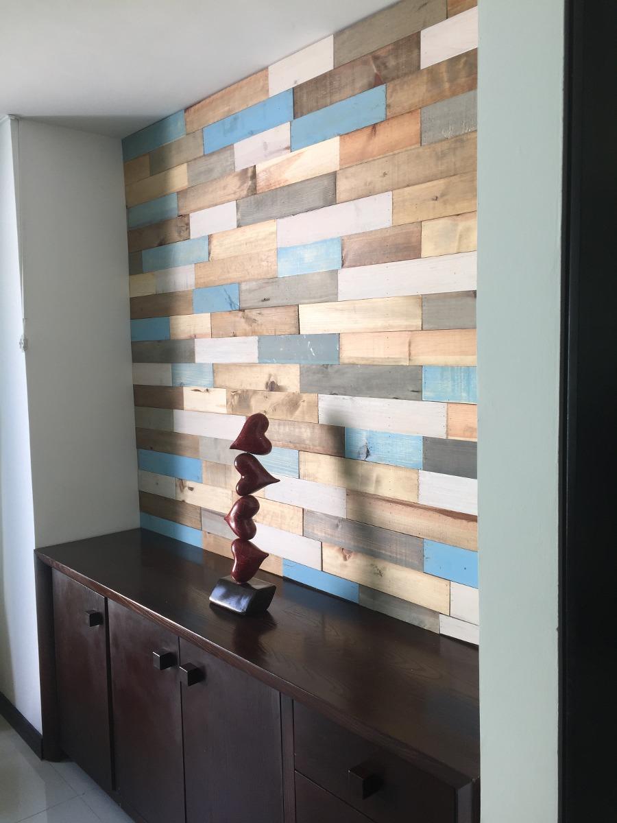 Recubrimiento muro de madera s lida pared pallet palet - Recubrimiento para paredes ...