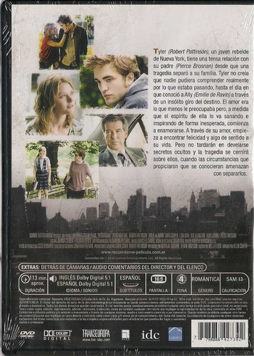 recuerdame - robert pattison - en  dvd
