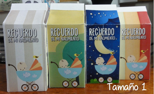 recuerditos cajitas de leche personalizadas *cotillones*