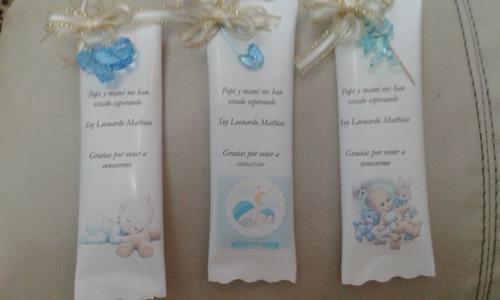 recuerditos chocolates decorados baby shawer y nacimiento