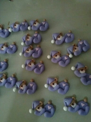 recuerditos de masa flexible para baby shower y nacimiento