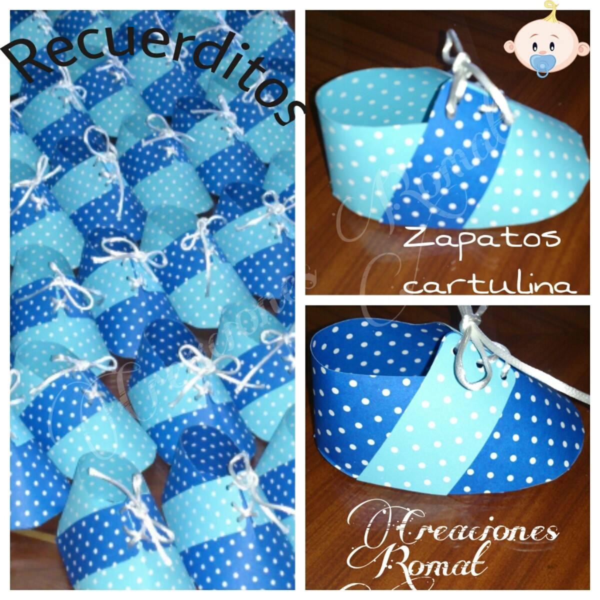 Souvenirs Para Baby Showers Para Varon ~ Recuerditos para varón zapatitos en cartulina baby