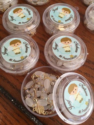 recuerditos rosarios  personalizados bautizo, boda, comunión