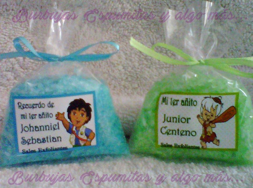 recuerditos sales aromaticas exfoliantes baby shower bautizo