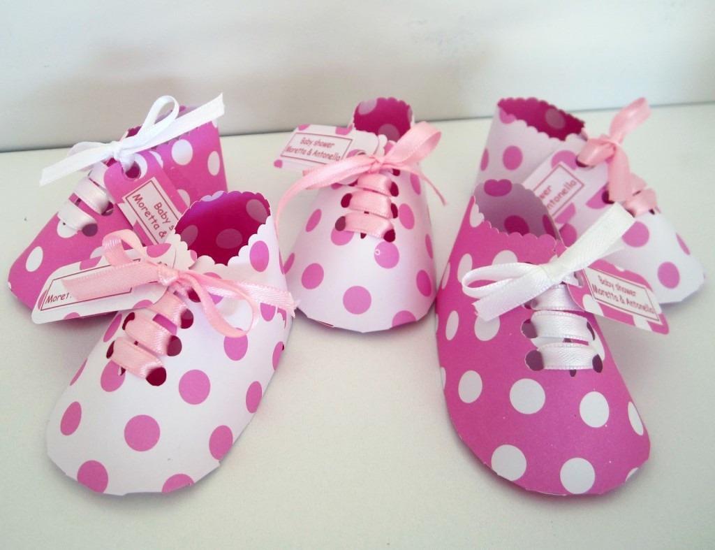 Recuerdo baby baby showers zapatos en cartulina baby - Ideas para decorar zapatos de nina ...