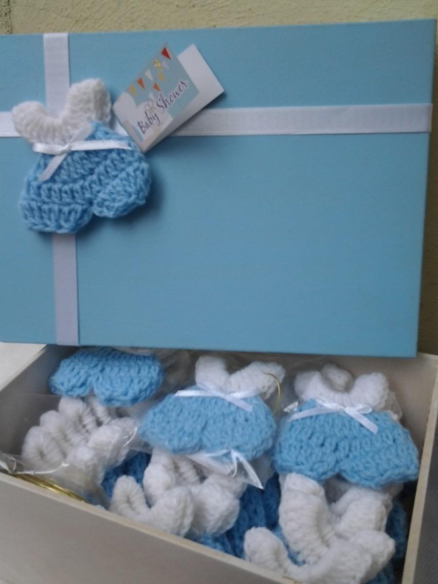 Recuerdo baby shower bautizo tejido decorado en mercado libre - Que regalar en un bautizo al bebe ...