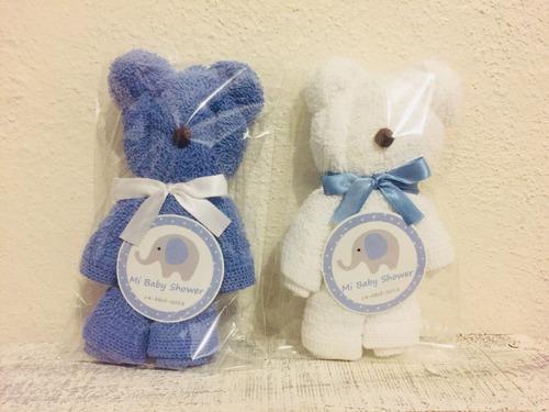 recuerdo baby shower oso toalla facial  bautizo cumpleaños