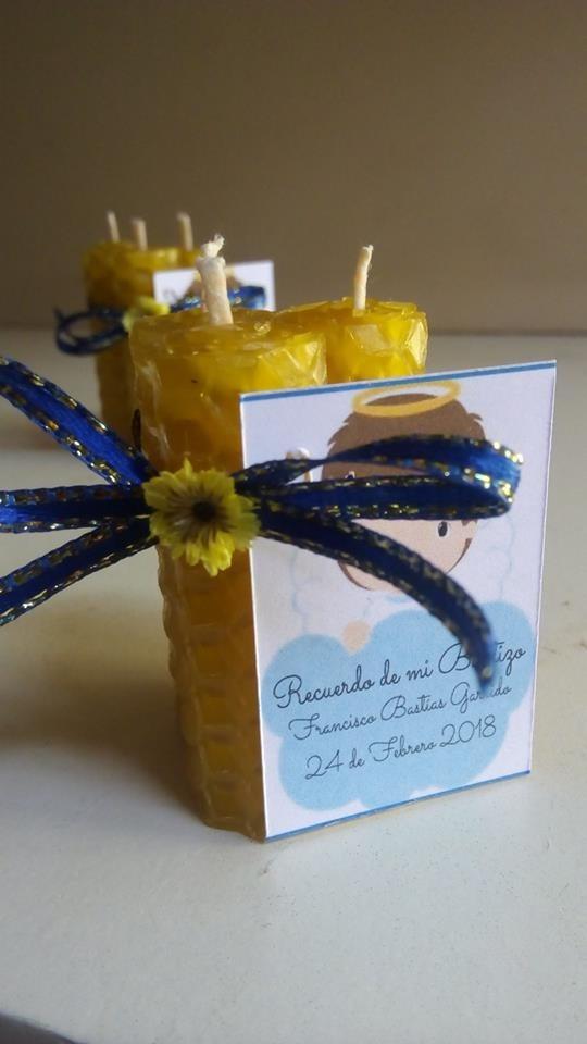 Recuerdo babyshower vela de miel en trios 600 en mercado libre - Velas de miel ...